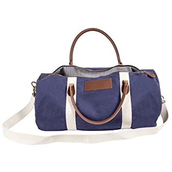 cathyu0027s concepts canvas u0026 leather duffle bag