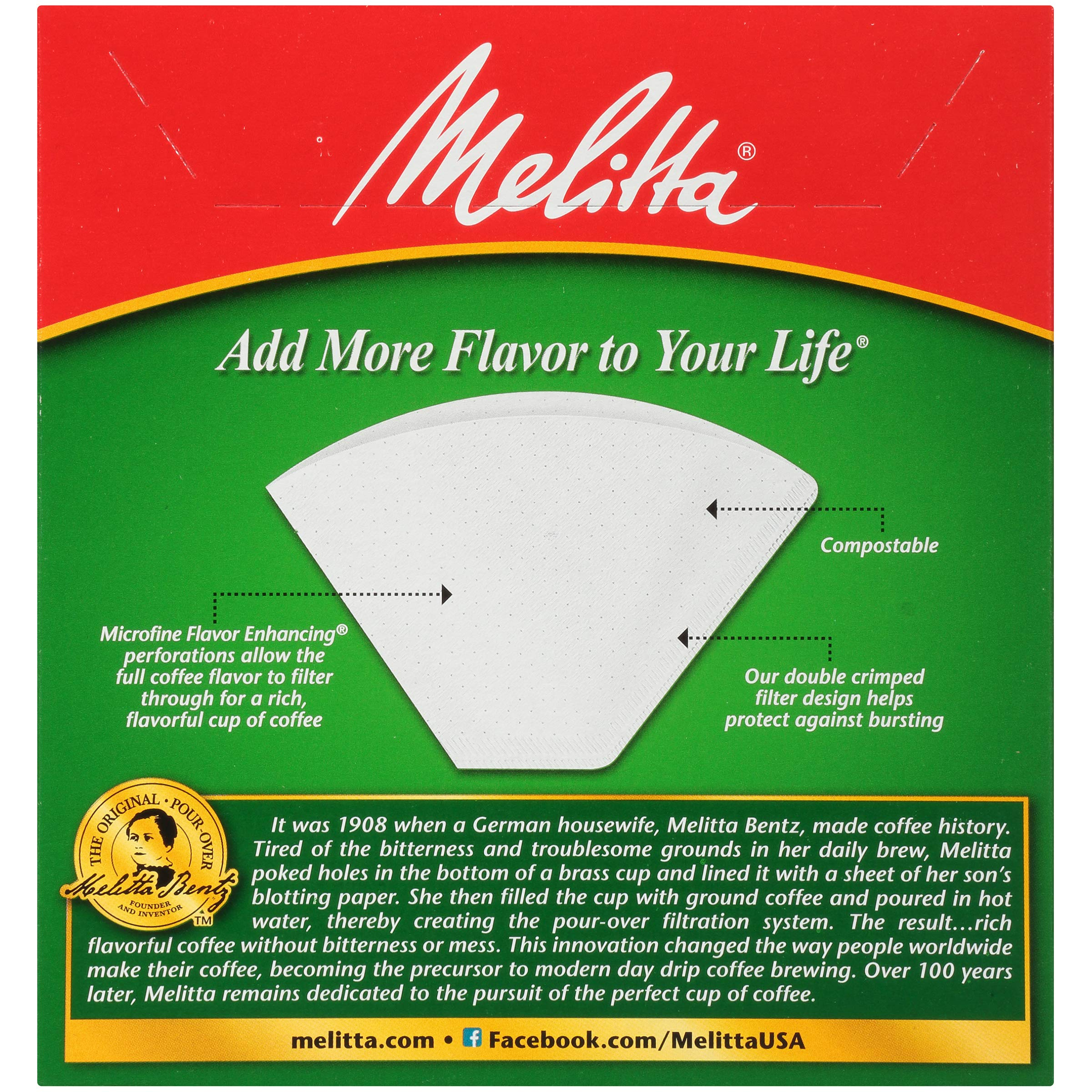Melitta (624102C) #4 Super Premium Cone Coffee Filters, White, 100 Count (Pack of 12) Replacement Coffee Maker Filters by Melitta (Image #4)