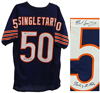 reputable site 2117f ecd2c Chicago Bears Mike Singletary Signed Throwback Jersey ...