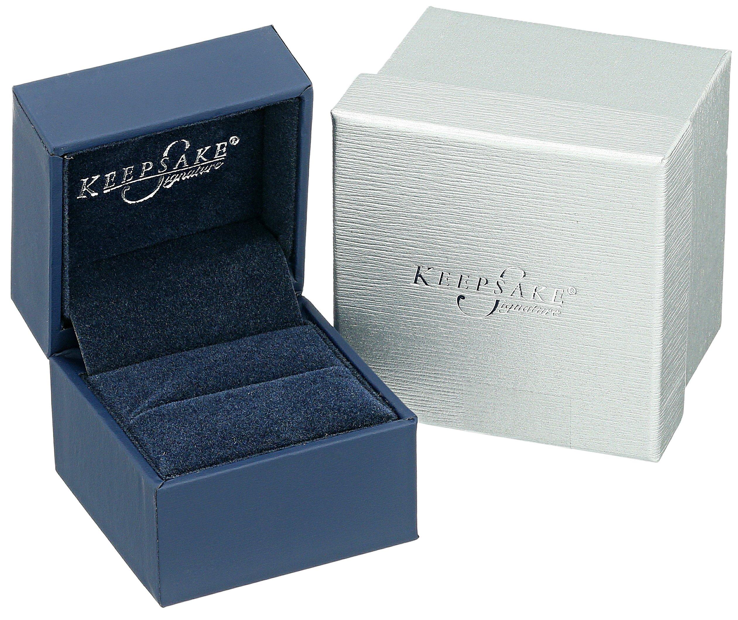 Keepsake Signature 14k White Gold Diamond Three-Stone Engagement Ring (1cttw, H-I Color, I1 Clarity), Size 7 by Amazon Collection (Image #4)