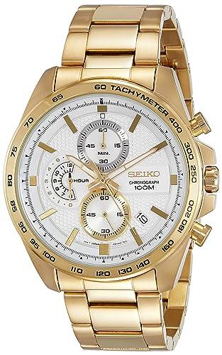 Seiko Reloj Cronógrafo para Hombre de Cuarzo con Correa en Acero Inoxidable SSB286P1: Amazon.es: Relojes