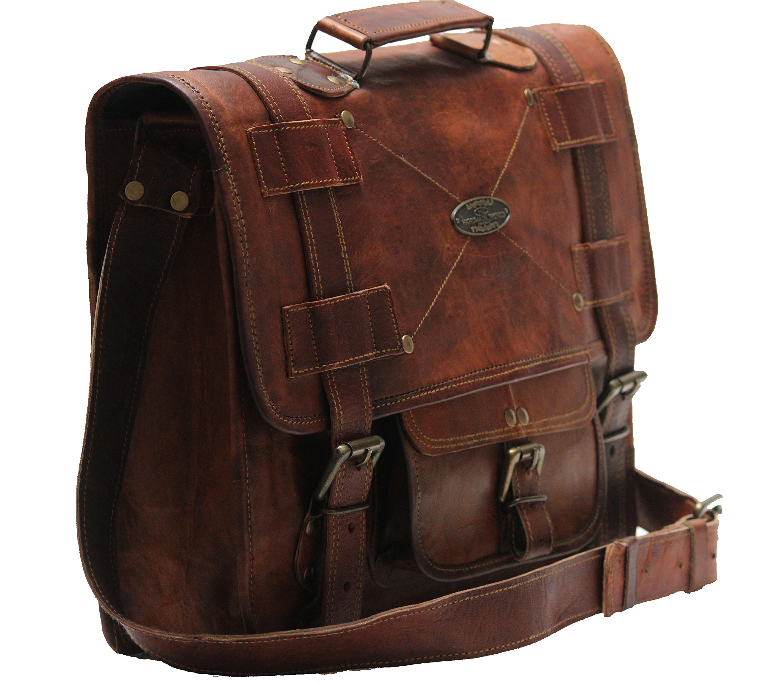 Leather Messenger Bags for Men Women Mens Briefcase Laptop Bag Best  Computer Shoulder Satchel School Distressed Bag 4435868abc779