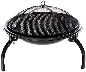 6. La Hacienda 58106 Camping Firebowl with Grill