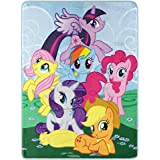 "Hasbro's My Little Pony ""Join The Herd"" Micro Raschel Throw Blanket, 46"" x 60"", Multi Color"