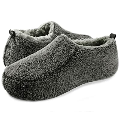 Oooh Yeah Men's Soft Cozy Non-Slip Solid Sherpa Slippers Built in Foam Tan   Slippers