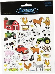 Tattoo King Multi-Colored Stickers-The Farm