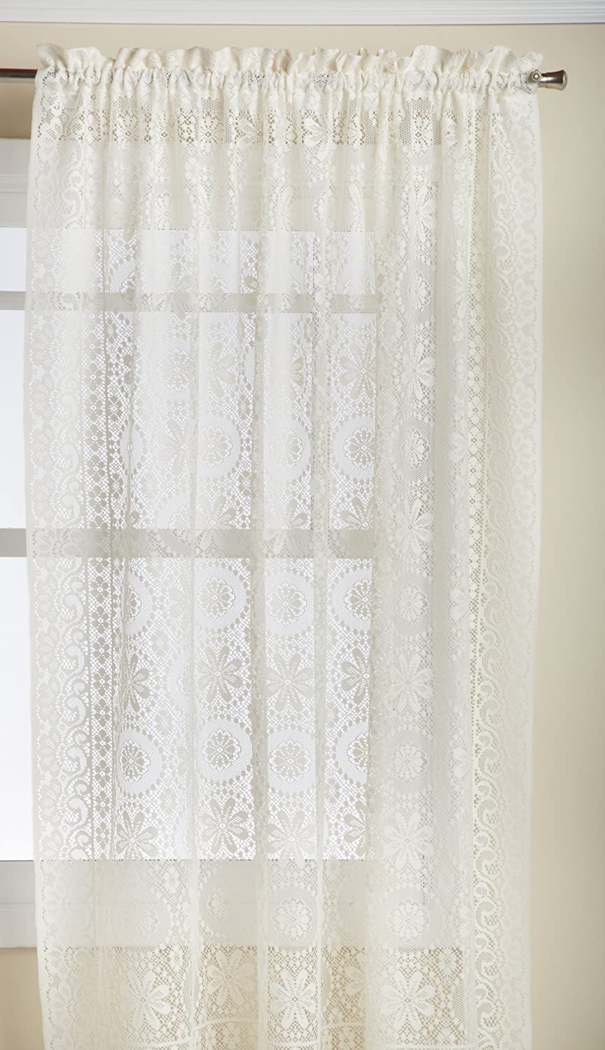 Hopewell Lace Kitchen Curtain - 24 tier (pr) - WHITE by The_Curtain_Shop Lorraine Home Fashions