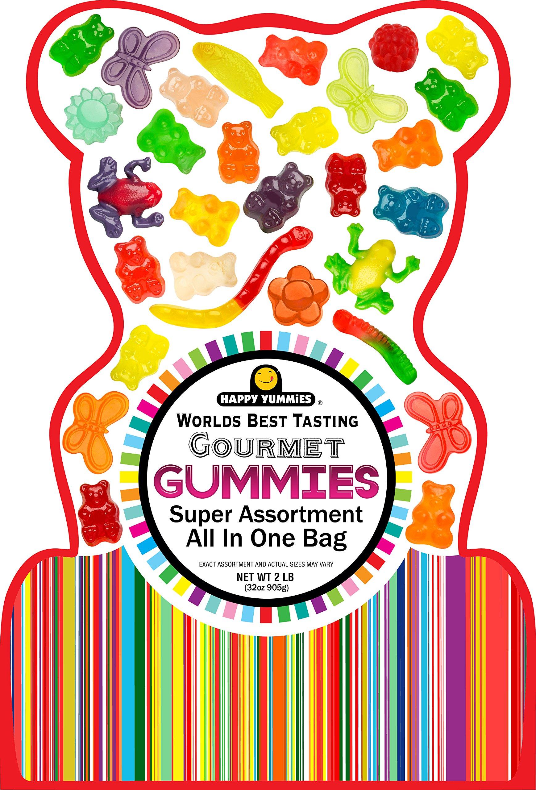 Happy Yummies Worlds Best Tasting Gourmet Gummies All In One Assortment 32oz