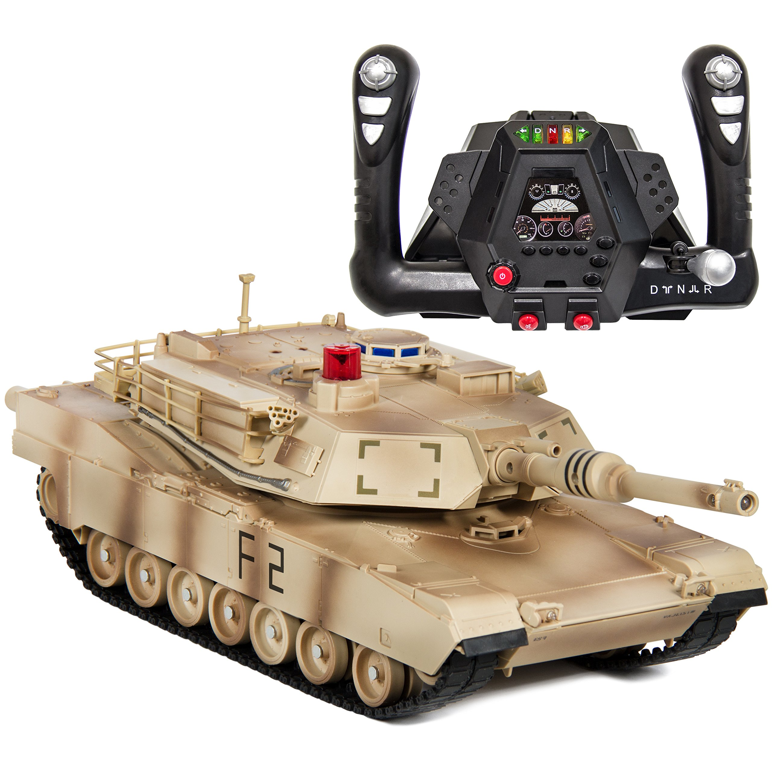 Best Choice Products 1/14 Scale RC Military Tank Radio Remote