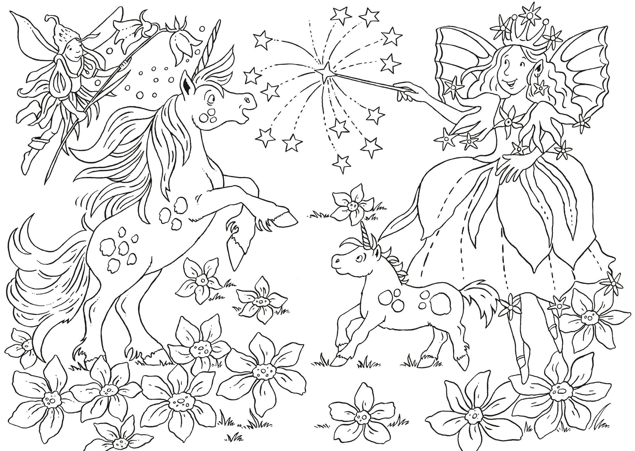 Mein magisches Malbuch Einhörner: Amazon.de: Helge Glatzel-Poch: Bücher