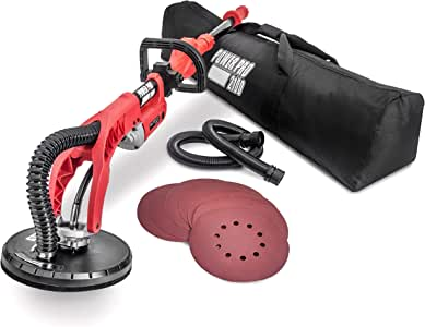POWER-PRO 2100 Electric Drywall Sander - Variable Speed 1000-2100rpm, 710 Watts, Extendable Handle, Storage Bag, Sanding Discs Included
