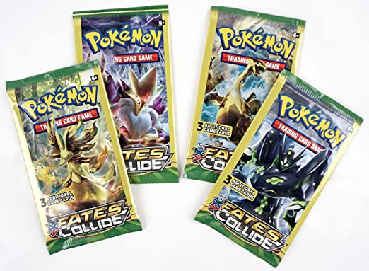 POKEMON TCG XY Fates Collide Booster x 4 Packets NEW trading card game
