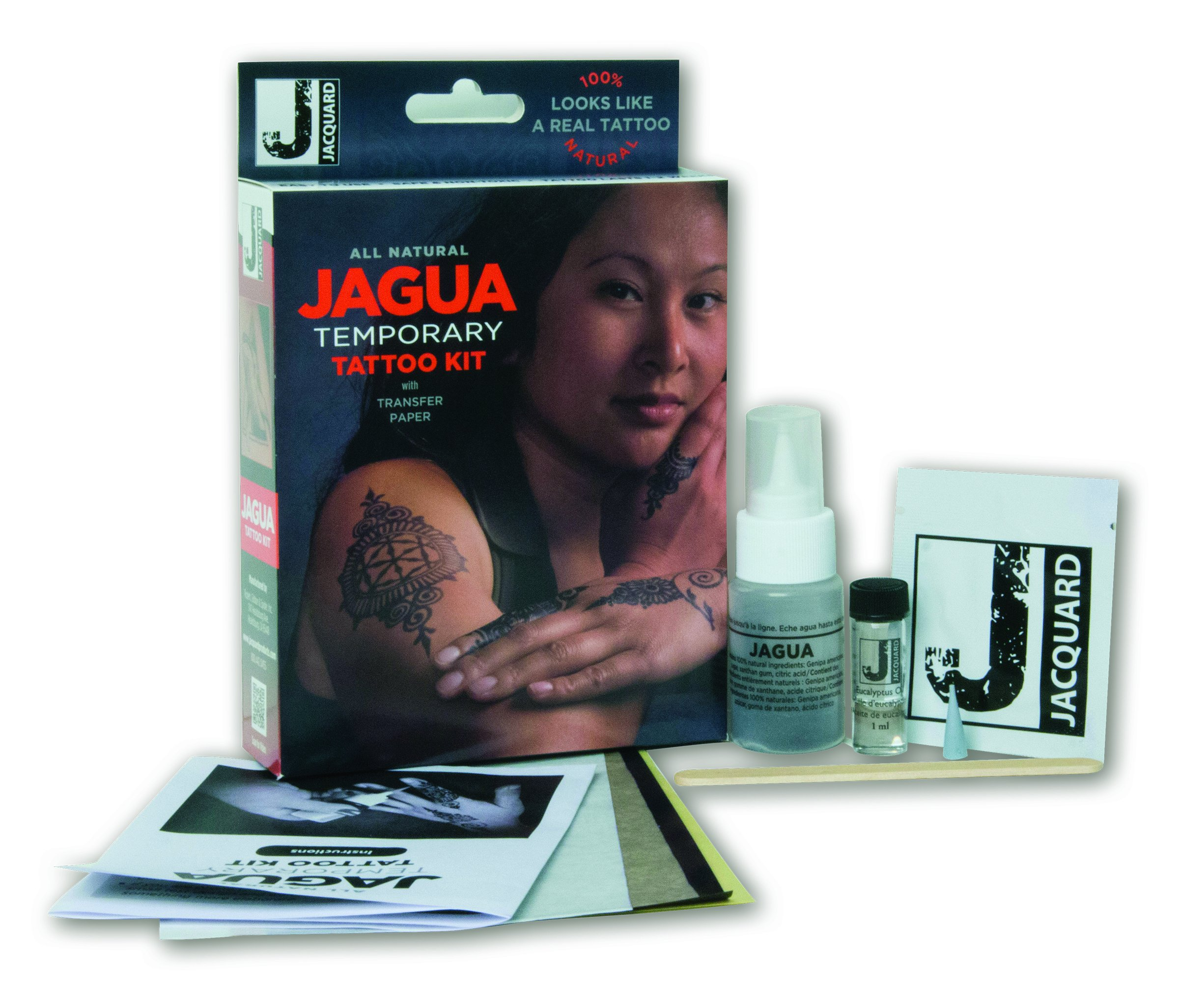 Jacquard Jagua Temporary with Transfer Paper Tattoo Kit (8 Piece) by Jacquard (Image #2)