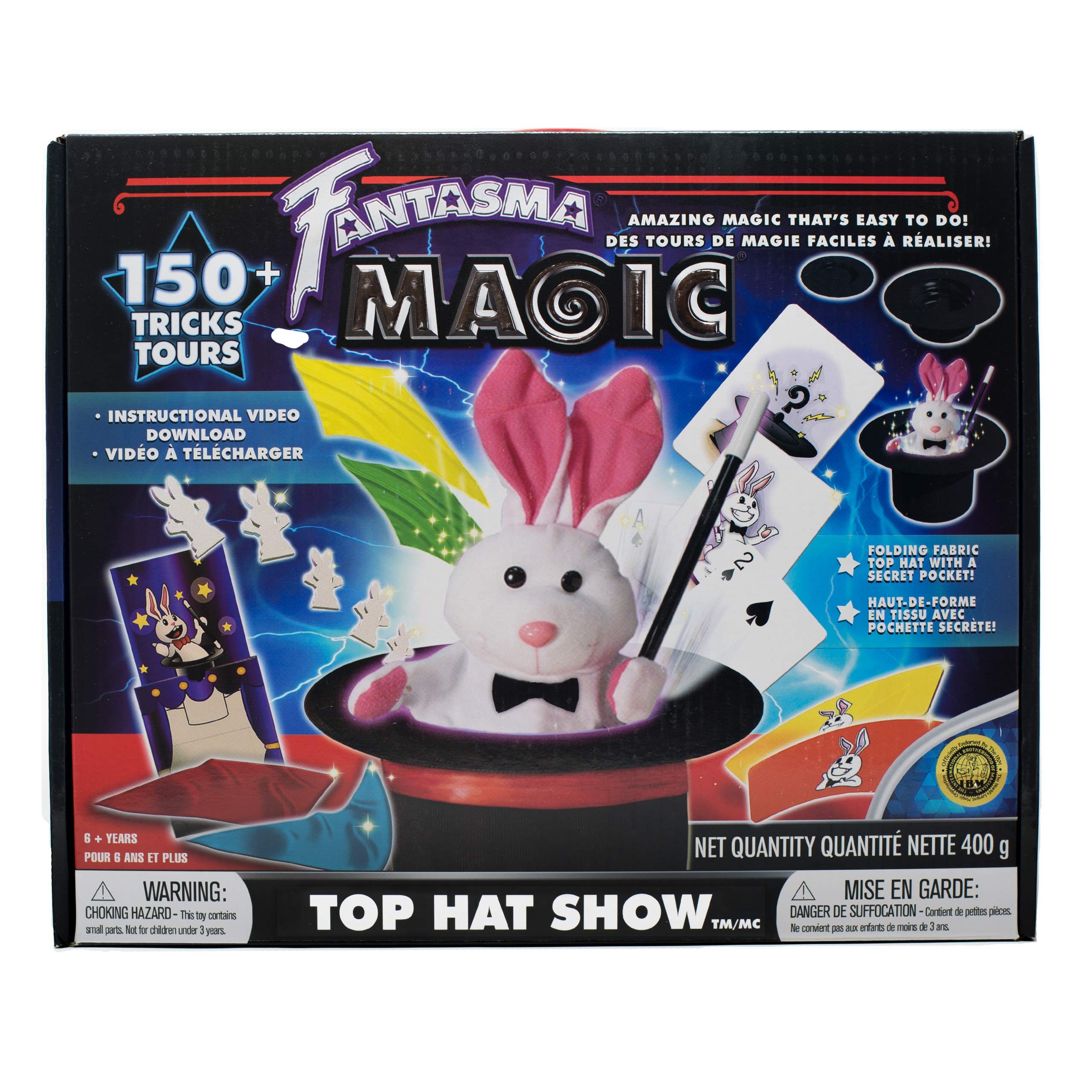 Fantasma Top Hat Show Magic Set for Kids - Magic Kit to Learn More Than 150 Magic Tricks - Great for Boys and Girls 6 Years and Older by Fantasma