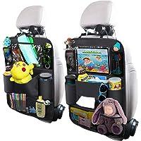 $21 » OYRGCIK Backseat Car Organizer, Kick Mats Car Back Seat Protector with Touch Screen Tablet…