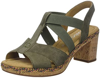 Womens Suede Uppers with Buckle Fastening Ankle Strap Sandals Gabor pzxPbCYyFg