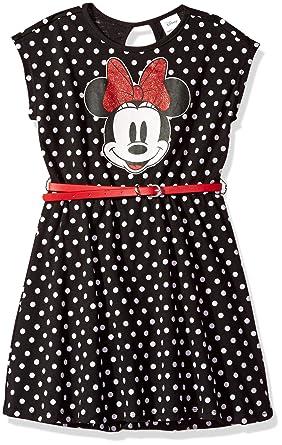 1b3d2b94d Amazon.com: Disney Girls' Minnie Mouse Dress with Belt: Clothing