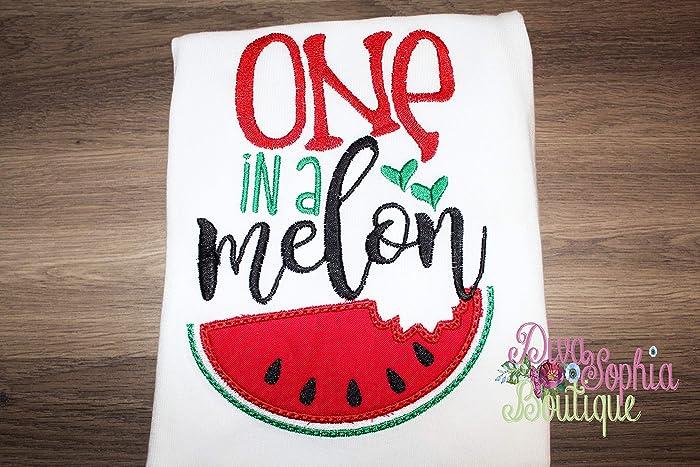 2969e2e4f Amazon.com: ONE in a Melon T-shirt - Watermelon Top: Handmade