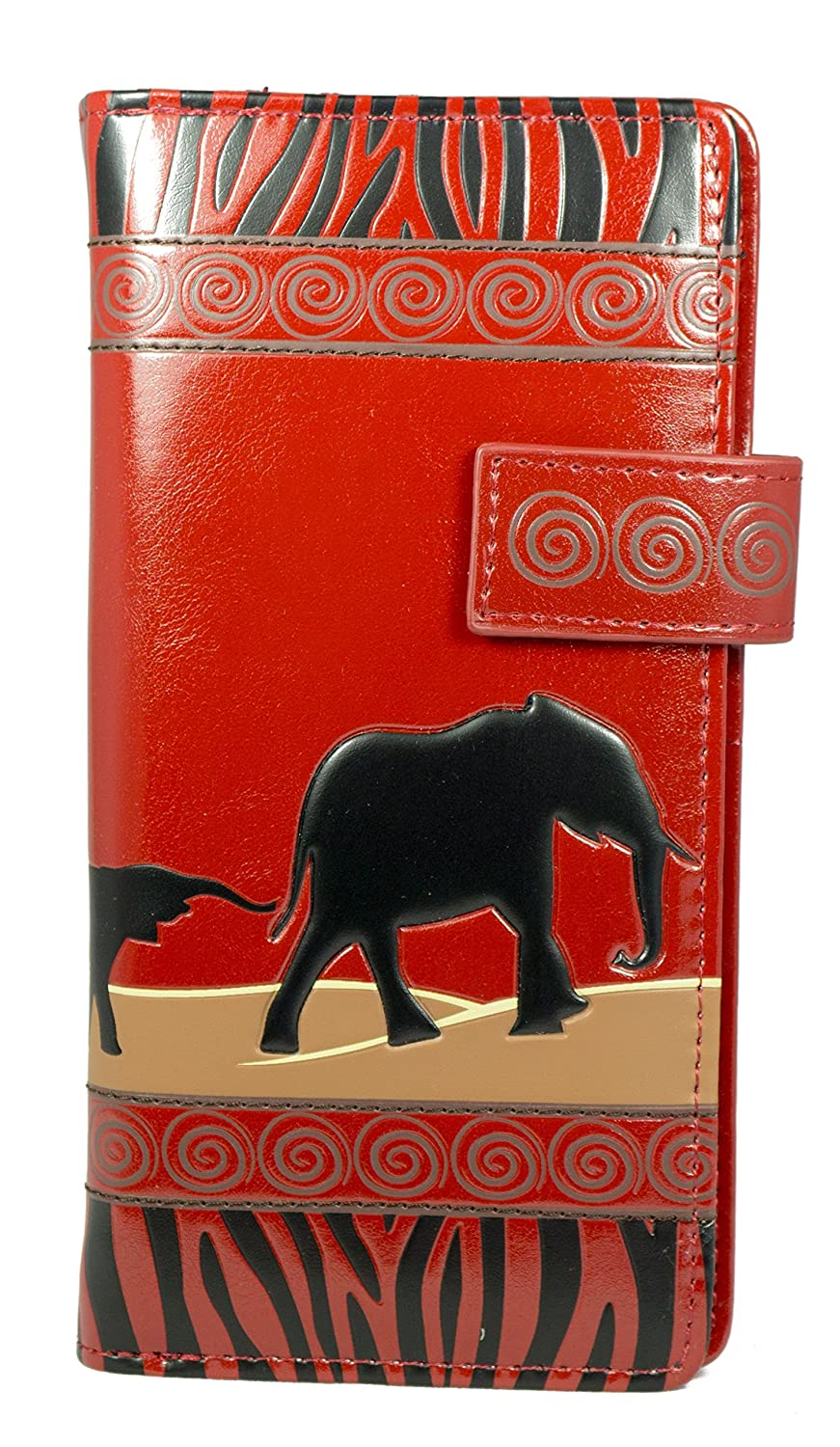 Shagwear Young Ladies Wallet, Large Purse: Various colors and designs: (Elephant Safari teal)