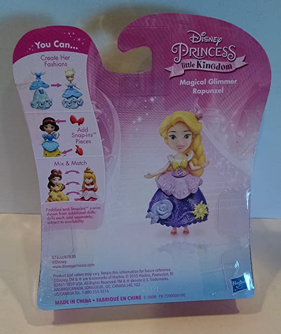 Amazon Com Hasbro Disney Princess Tangled Little Kingdom Magical Glimmer Rapunzel Exclusive Figure Toys Games