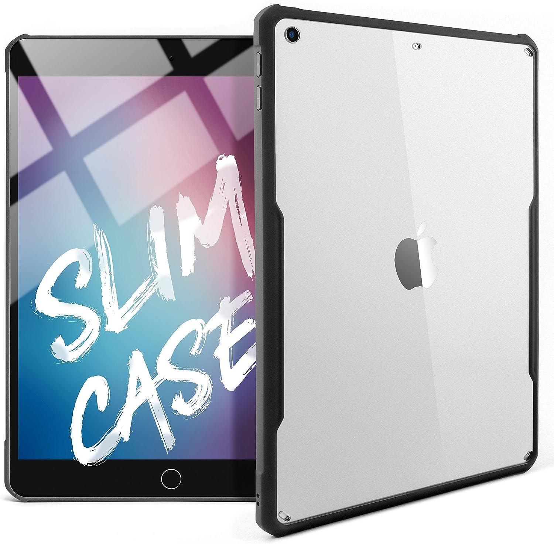 TineeOwl iPad 9.7 (2018/2017 Version) Ultra Slim Clear Case, Flexible TPU, Absorbs Shock, Lightweight, Thin (Black)