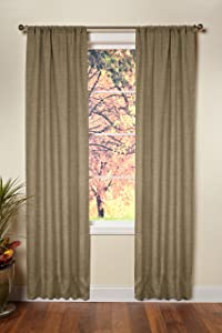 Cotton Craft - Jute Burlap Rod Pocket Window Panels - Color - Natural - Set of 2 - Size - 48x96 - Made from Eco-Friendly Natural Jute
