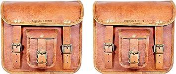 Urban Leder Handmade Tasche 2 X Motorrad Satteltaschen Braun Leder Seitentasche Satteltaschen Satteltaschen 2 Taschen Auto