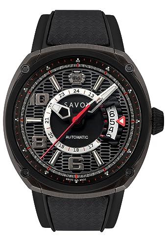 Savoy Epic automático 43 mm IP Negro y Rojo Reloj de pulsera.: Savoy Watches: Amazon.es: Relojes