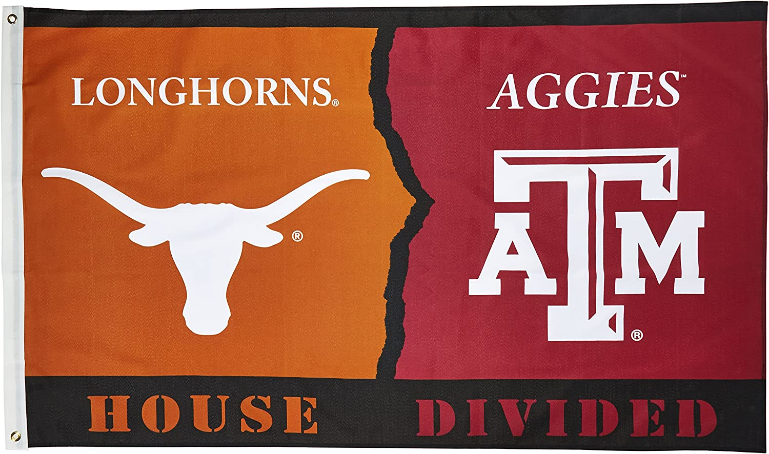 NCAA3' X 5' Rivalry House Divided Flag withGrommets
