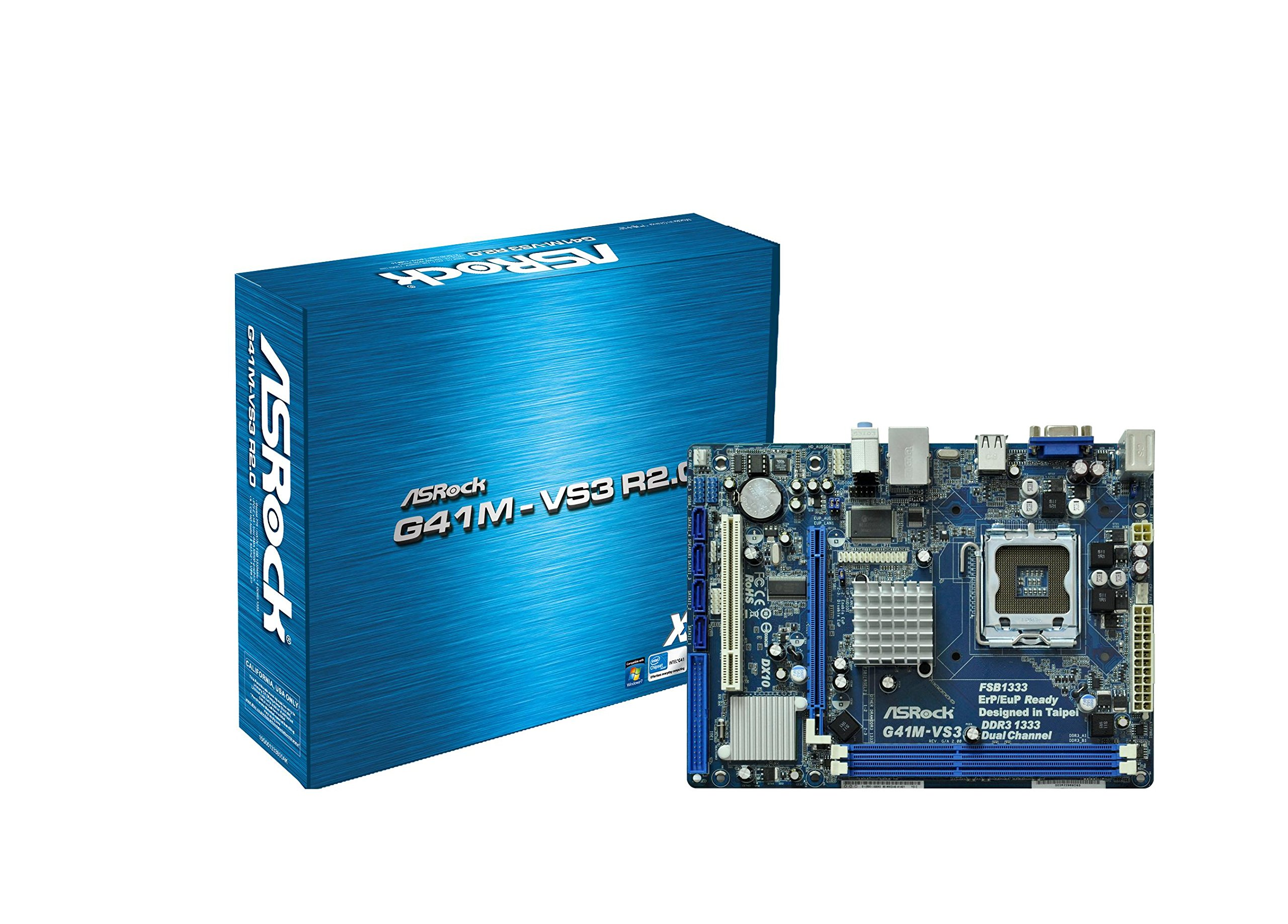 ASRock G41M-VS3 R2.0 Core 2 Quad/Intel G41/ DDR3/ A&V&L/Micro ATX LGA 755 Motherboard