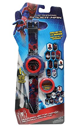 Reloj niño Proyector Spiderman 20 imágenes: Amazon.es: Relojes