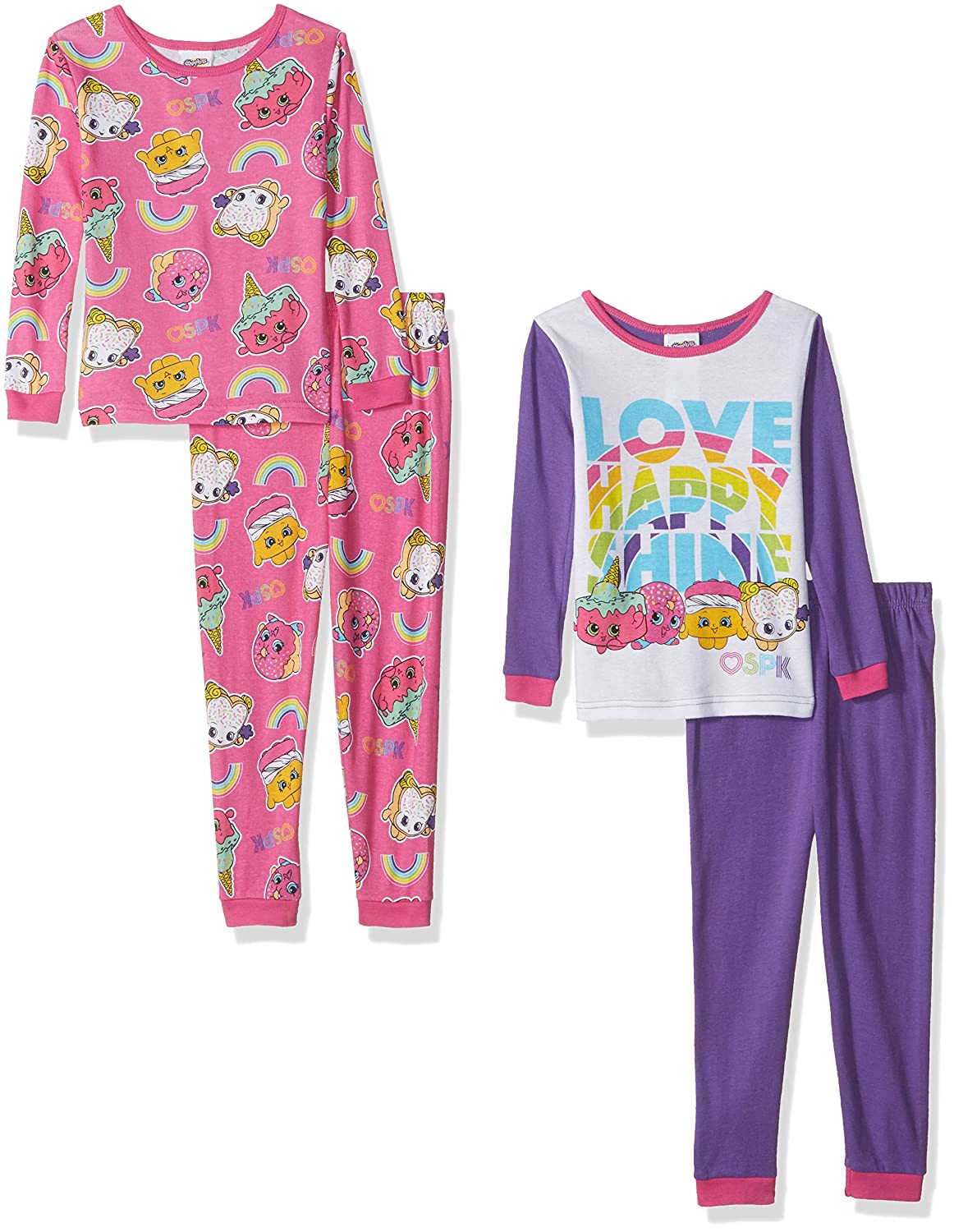 426af189ea5  Questions about Shopkins Sets  Shopkins Girls  Collection 4-Piece Cotton  Pajama Set Question  Can you guys help im trying to find a size small for  my 11 ...