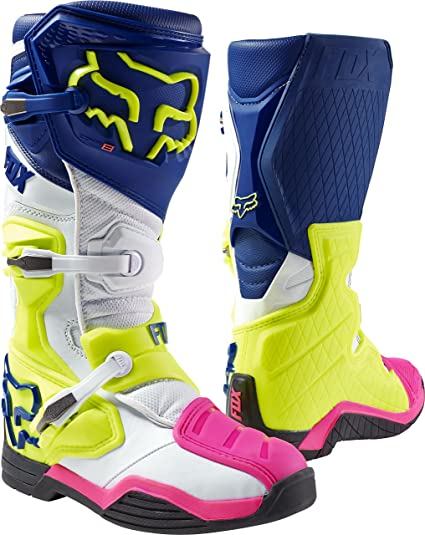 30267c5182b Fox Racing Comp 8 Men's Off-Road Motorcycle Boots - Navy/White/Size 10