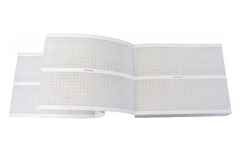 tecnocarta paquete de papel Térmica para ECG Compatible con HP/Philips 9270–0545