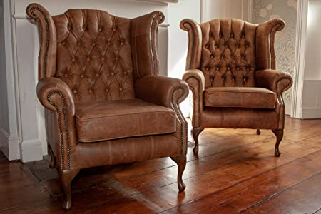 Super A Pair Of Chesterfield Queen Anne High Back Wing Chair Creativecarmelina Interior Chair Design Creativecarmelinacom