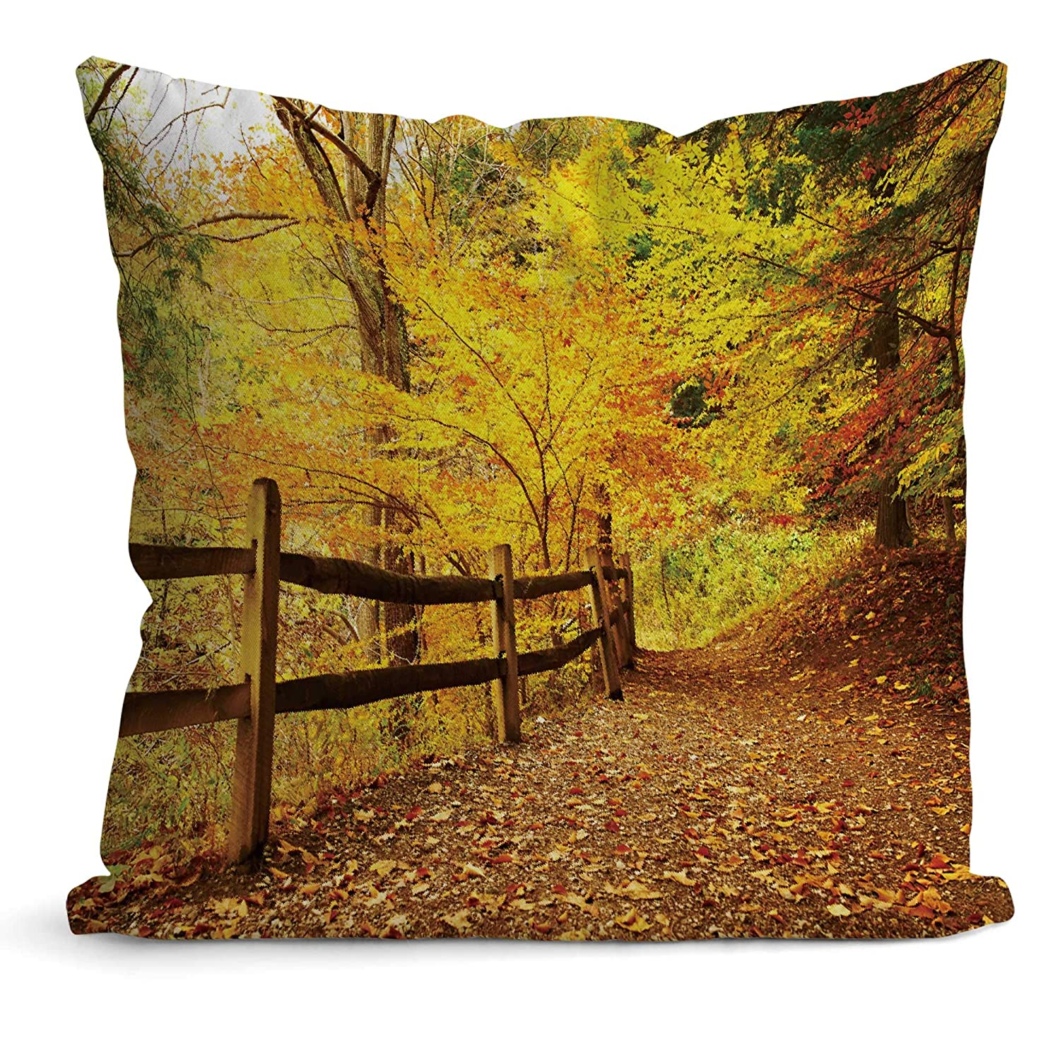 Buy Nine City Autumn Scene Landscape At Letchworth State Park Pillow Case Cushion Couch Cover Pillow Covers 12 X 12 Online At Low Prices In India Amazon In