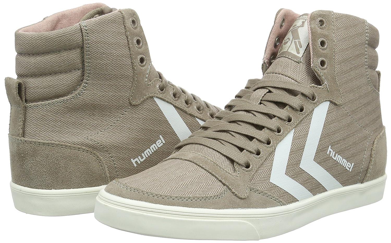 Hummel Women/'s Slimmer Stadil Herringbone Hig Hi-Top Sneakers Multicoloured