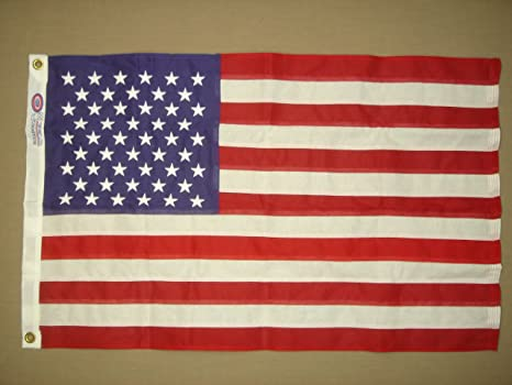 6a44e1c8315d Amazon.com   Annin Bulldog Cotton Outdoor U.S Flag (3 x 5-Feet Sewn ...