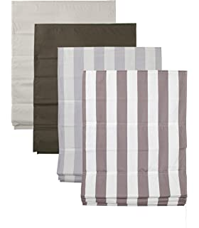 raffrollo gestreift baumwolle icnib. Black Bedroom Furniture Sets. Home Design Ideas