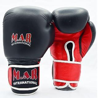 Rex Leather Designer Union Jack Boxing//Kickboxing//Thai Boxing Gloves with Moulded Foam Padding 2oz /– 16oz M.A.R International Ltd Thumb Lock Design