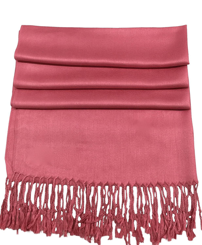 CJ Apparel Champagne Pink Solid Color Design Shawl Pashmina Scarf Seconds *NEW*