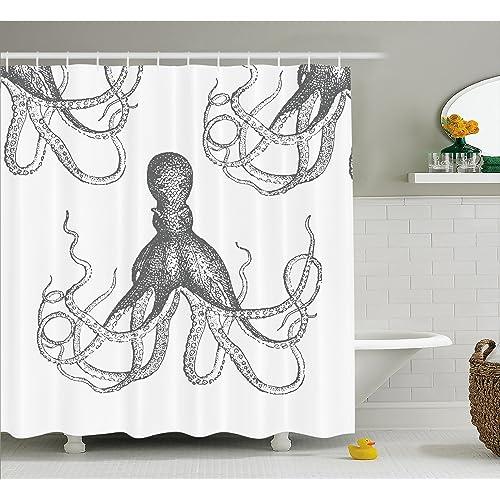 Sea Kitchen Curtains Amazon: Kraken Shower Curtain: Amazon.com