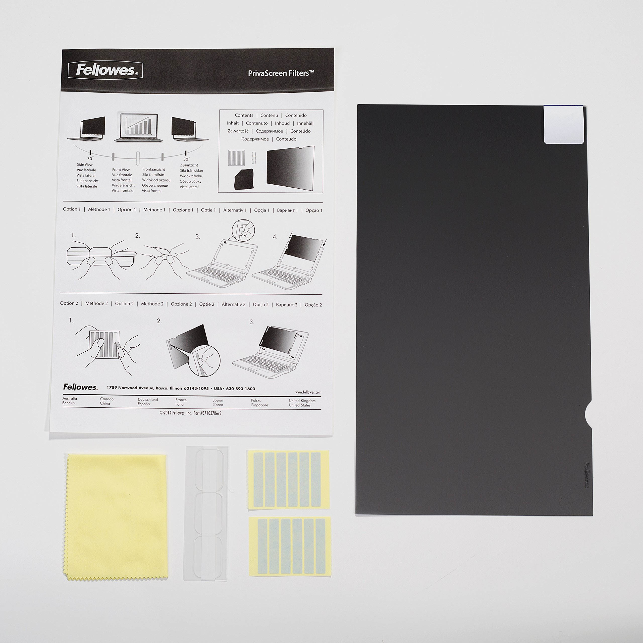 Fellowes PrivaScreen Privacy Filter for 14.1 Inch Widescreen Laptops 16:9 (4815701)