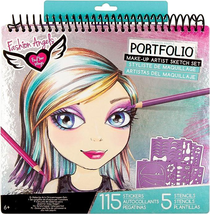Amazon.com: Fashion Angels Make-up & Hair Design Sketch Portfolio: Toys & Games