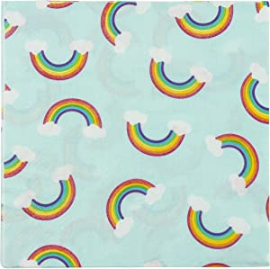 Rainbow Party Decorations, Turquoise Napkins (6.5 x 6.5 In, 150 Pack)