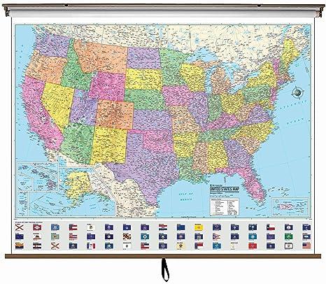 Amazon.com : Universal Map 27906 US Advanced Political Wall ...