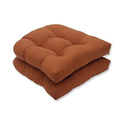 amazon com pillow perfect indoor outdoor cinnabar wicker seat