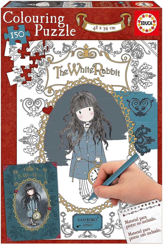 Educa Borrás- Gorjuss Puzzle 150 The White Rabbit (17820): Amazon.es: Juguetes y juegos