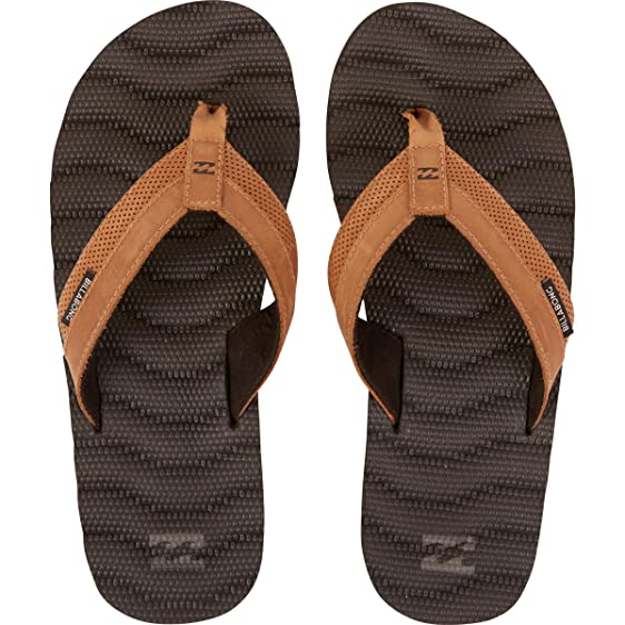 Billabong Men's Dunes Lux Leather Sandals Black/Tan 8