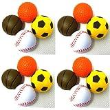 PeSoBo 16 Stück Moosgummiball 4 cm Katzenspielzeug Spielball Softball